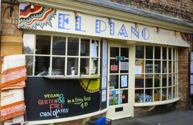El Piano restaurant in York serves great gluten free and vegan food