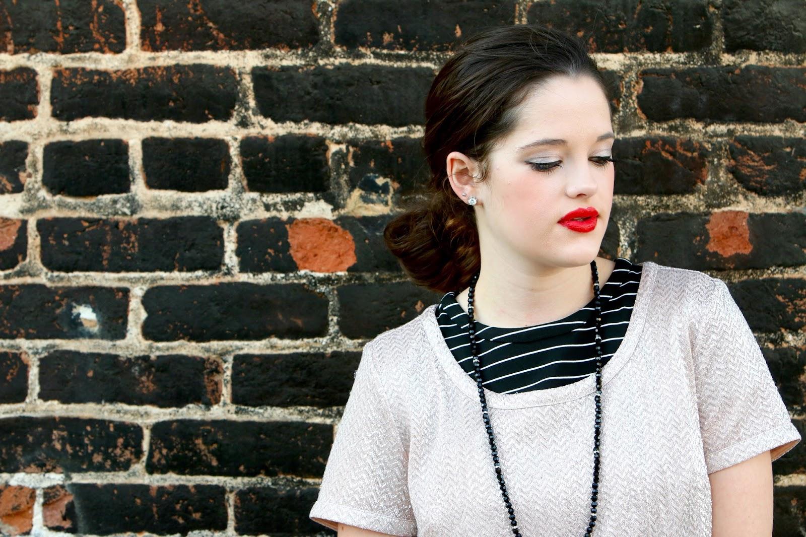 glitter top fashion blogger