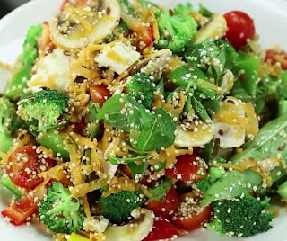 how to make power packed salad step by step