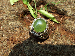 Batu Idocrase Lumut Aceh Indah IDC014 Size Kantoran Ikatan Kokoh Mewah