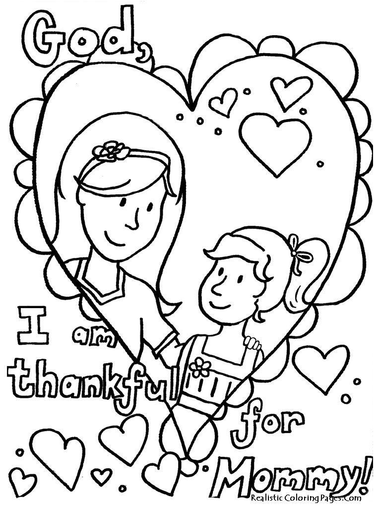 Printable mothers day coloring pages realistic coloring for Mom coloring pages