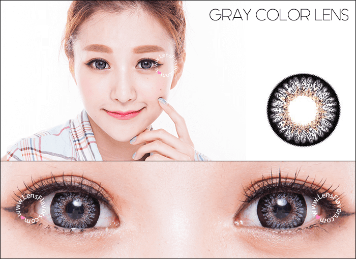 geo princess mimi sesame gray circle lenses