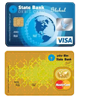 SBI debit cards. Global Visa, MasterCard