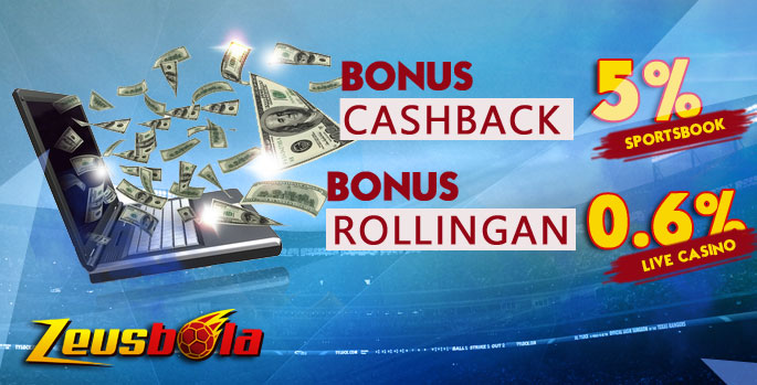 cashback 5% + rollingan 0.6%