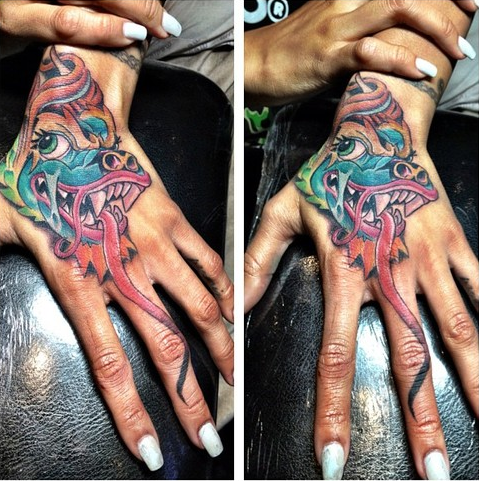 A Feast For The Eyes Rihanna Copied Her Hand Tattoo From