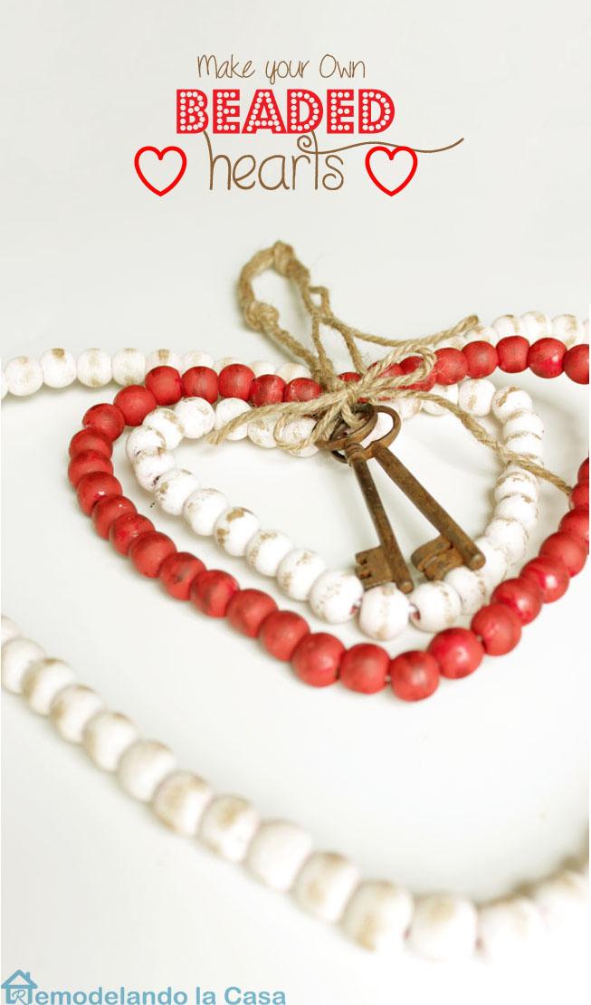a key to my heart - beaded hearts from beaded garland