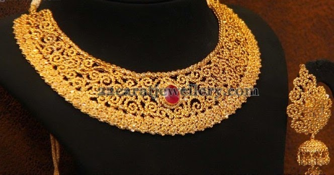 Choker With Spinel Uncuts Jewellery Designs
