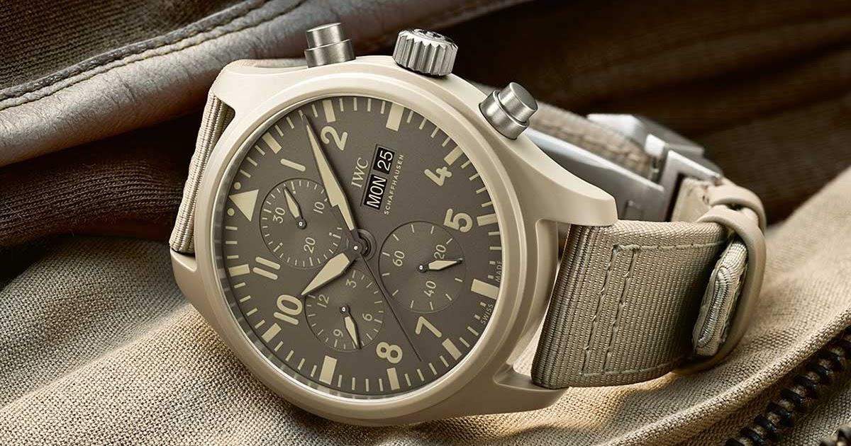 "Perpetual Calendar Watch >> SIHH 2019: IWC - Pilot's Watch Chronograph Top Gun Edition ""Mojave Desert"" IW389103 | Time and ..."
