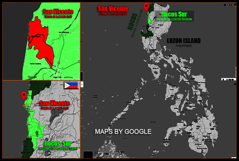 MAP OF SAN VICENTE, ILOCOS SUR
