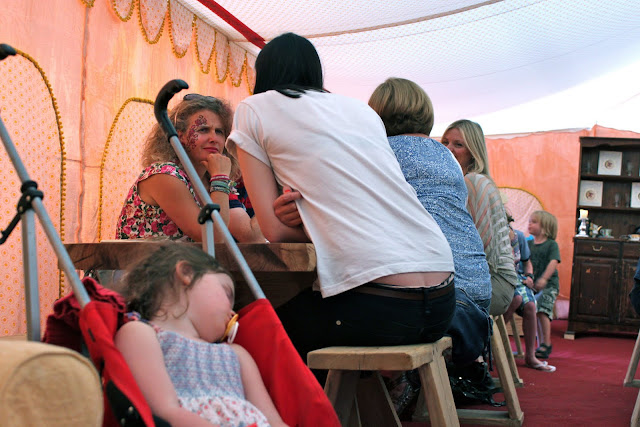 Even adults had face painting