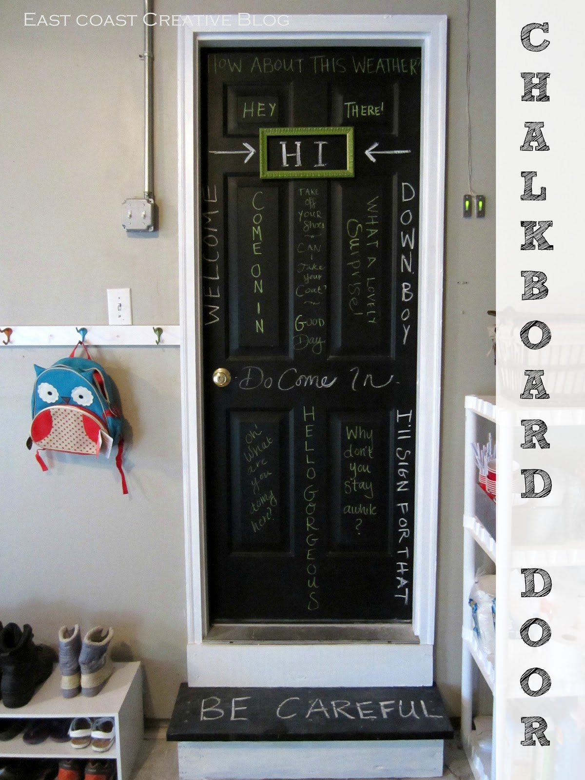 Chalkboard Door - Infarrantly Creative