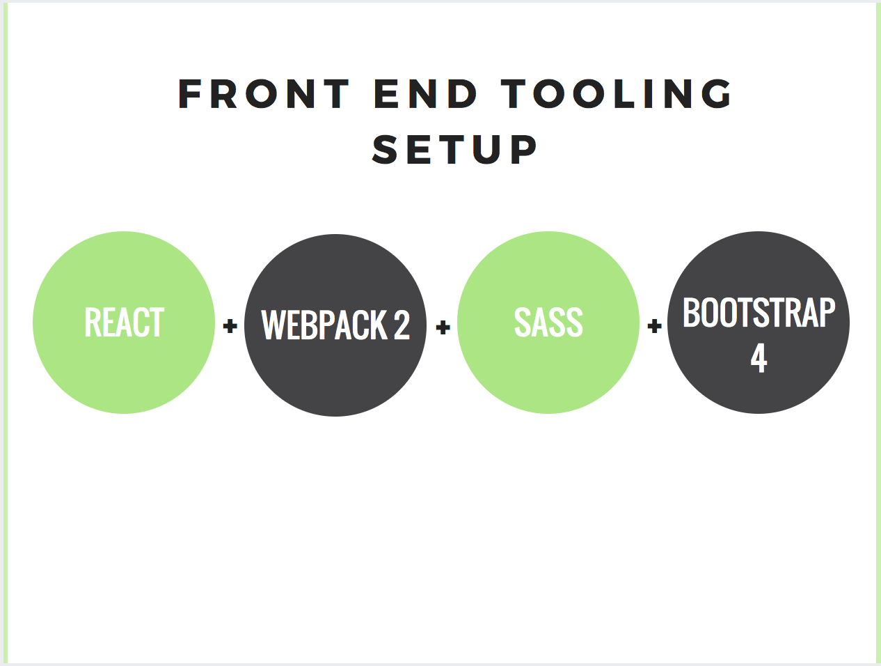 Front End Tooling Setup With React + Webpack 2 + Sass + Bootstrap 4
