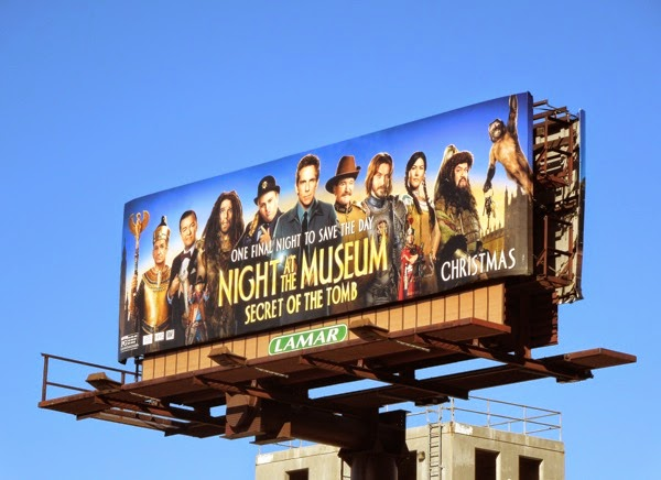 Night at Museum Secret of the Tomb billboard