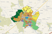 Plan zagospodarowania Miasta Głowno mapa z działkami geodezyjnymi