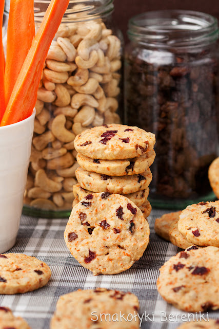 Ciasteczka marchewkowo-bakaliowe