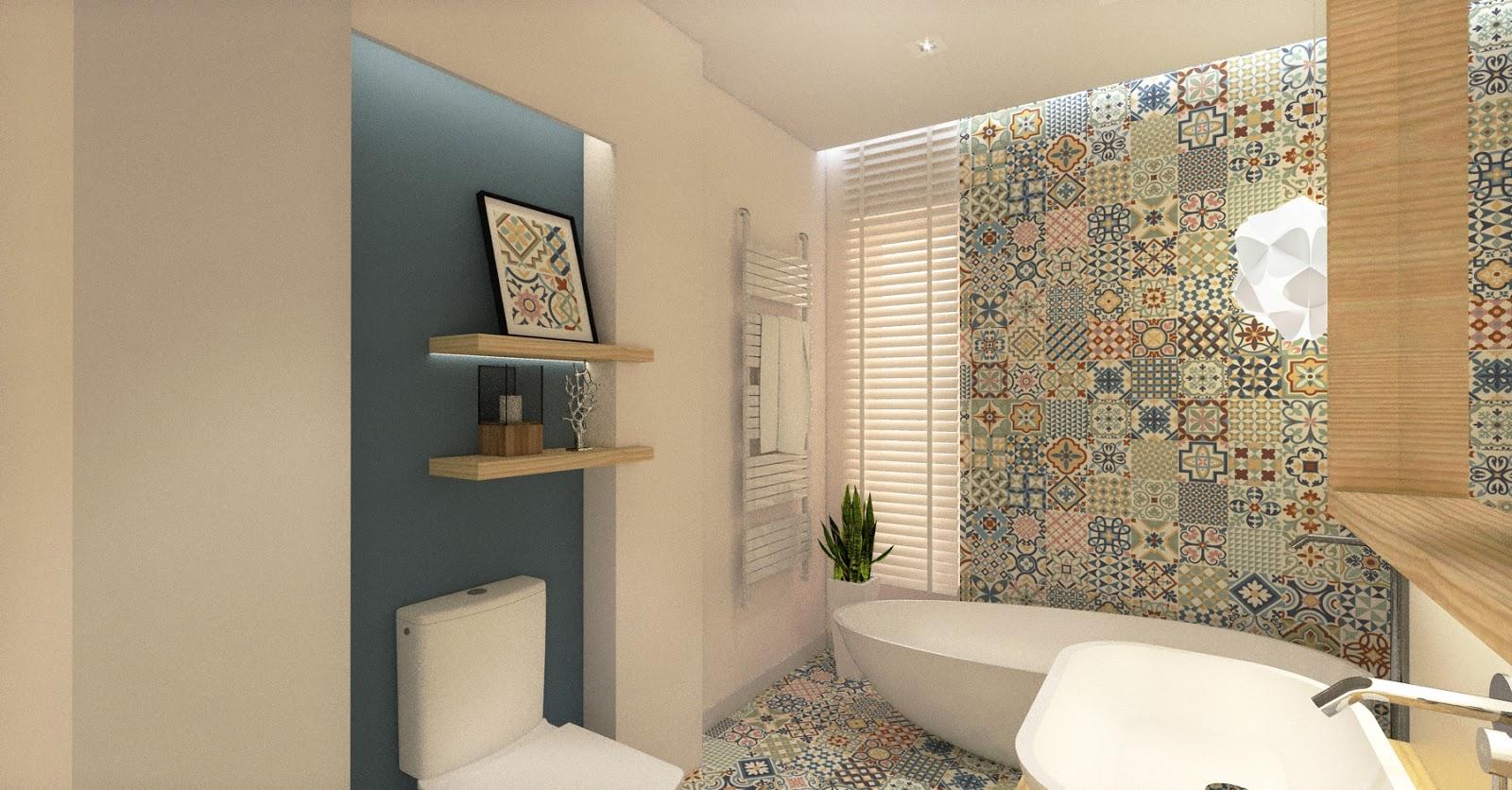 Projekt Wnętrza Domu W Bobrowcu łazienka Wizualizacje