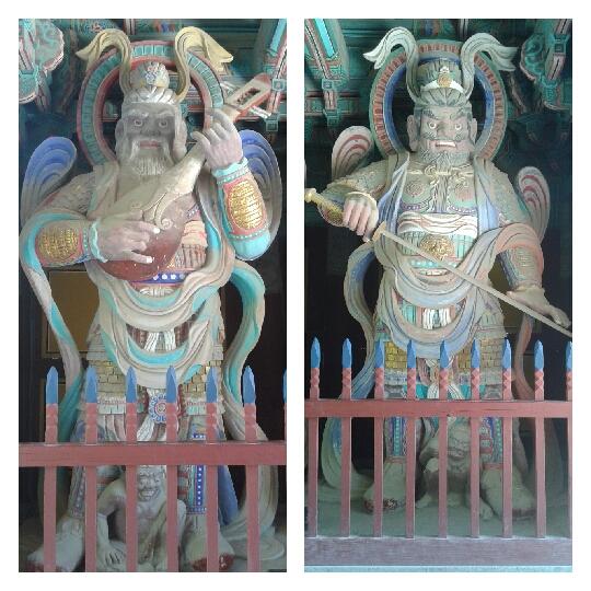 Guardianes Dhrtarastra del Este - Virudhaka del Sur