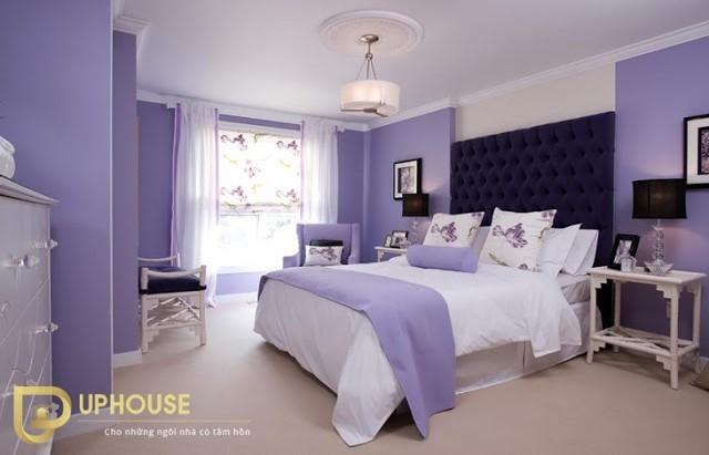 Phòng ngủ màu tím 01