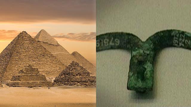 Misterioso descubrimiento de una placa de metal grabada, en una pirámide egipcia