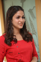Actress Lavanya Tripathi Latest Pos in Red Dress at Radha Movie Success Meet .COM 0168.JPG