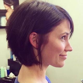 Corner bob hairstyle
