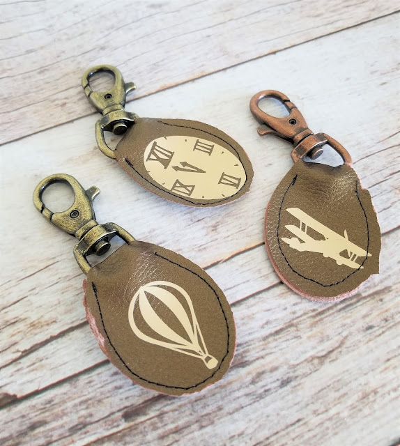 cricut leather keychain