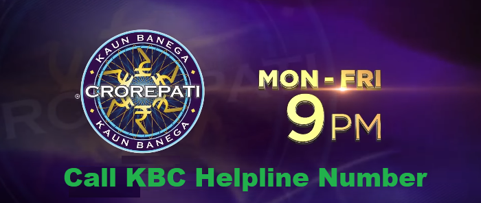 KBC Helpline Toll Free Number 0019188444454
