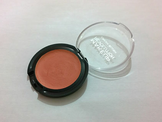 Makeup Revolution Cream Blush In Peach Cream - Review and Swatches