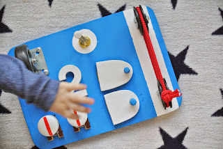 a small sensory board for toddlers