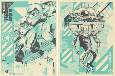"Star Wars ""Troopers Glitch"" & ""Viper Droid"" Fan Art Screen Prints by Hydro74"