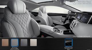 Nội thất Mercedes S400 4MATIC Coupe 2017 màu Xám Crystall 978