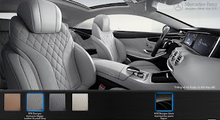 Nội thất Mercedes S500 4MATIC Coupe 2018 màu Xám Crystall 978