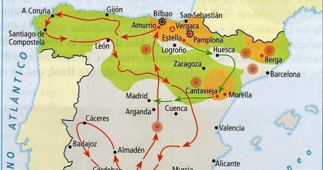 Primera Guerra Carlista Mapa.Apuntes Para Una Historia De Mendavia Primera Guerra