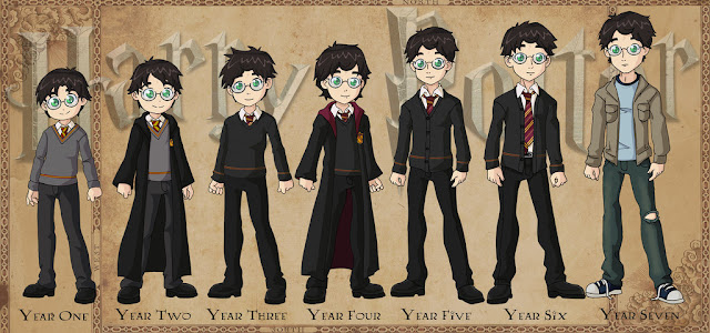 Harry potter through the years cover