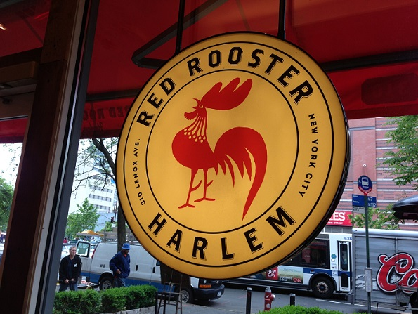 Red Rooster sign NYC