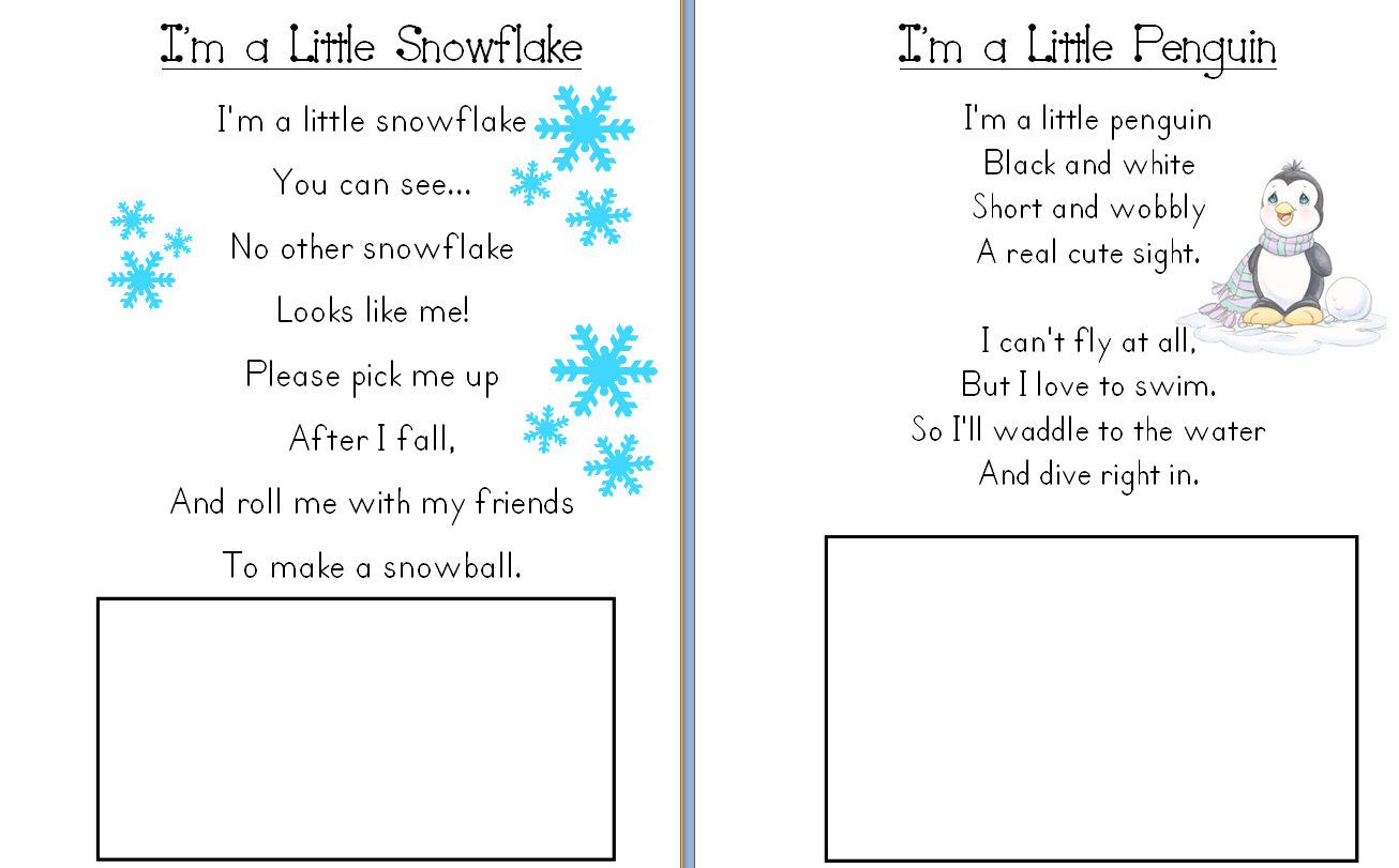Aloha Kindergarten January Poetry Journals