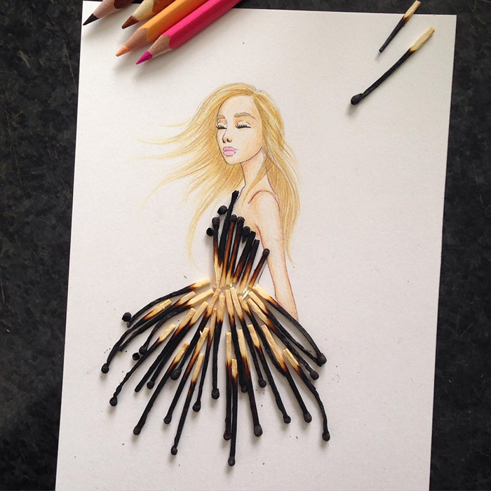 Beautiful Cut Out Dresses With Everyday Object Some Art And Craft