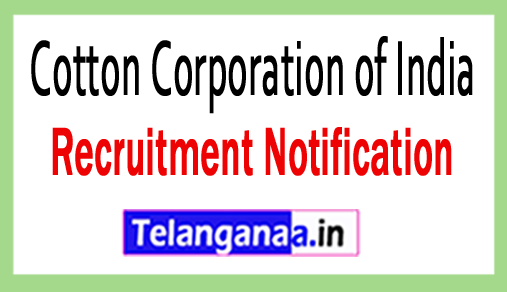 Cotton Corporation of India CCI Recruitment Notification