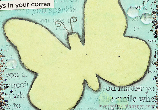 Layers of ink - Glow In The Dark Butterfly Tutorial by Anna-Karin Evaldsson. ¨