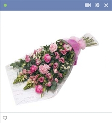 Bouquet Of Pink Flowers Emoticon