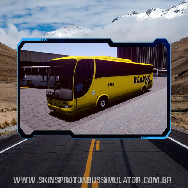 Skin Proton Bus Simulator - G6 1050 MB O-500R 4X2 Viação Real Bus
