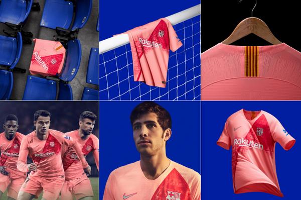 El nueva tercera camiseta Barcelona de los gigantes catalanes se dio a  conocer el miércoles b25ad71006e9a