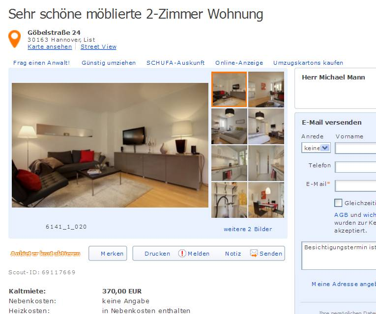 alias herr michael mann gegen wohnungsbetrug against rental scammers. Black Bedroom Furniture Sets. Home Design Ideas