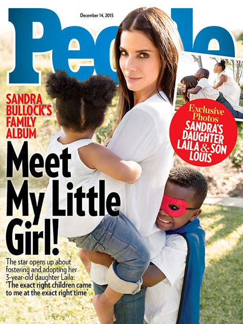 Sandra Bullock adopts 3 year old daughter named Laila