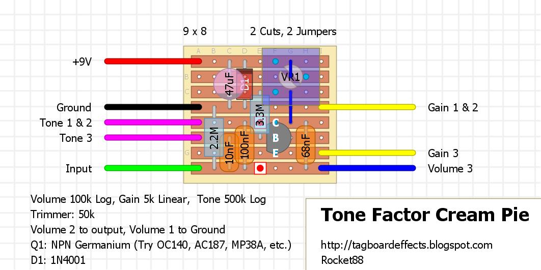guitar fx layouts tone factor cream pie. Black Bedroom Furniture Sets. Home Design Ideas