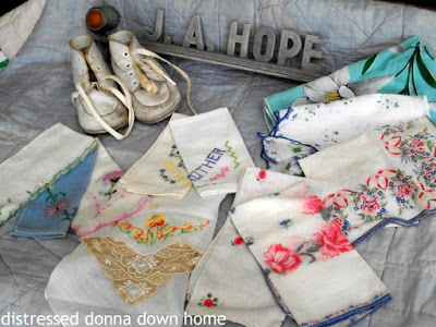 estate sale, vintage finds, handkerchief, quilts