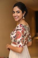 Ritu Varma smiling face Cream Anarkali dress at launch of OPPO New Selfie Camera F3 ~  Exclusive 074.JPG