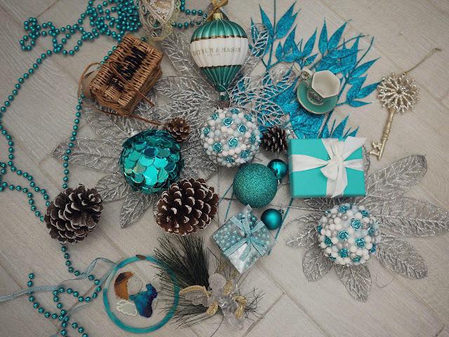 игрушки для новогодней елки в стиле тиффани