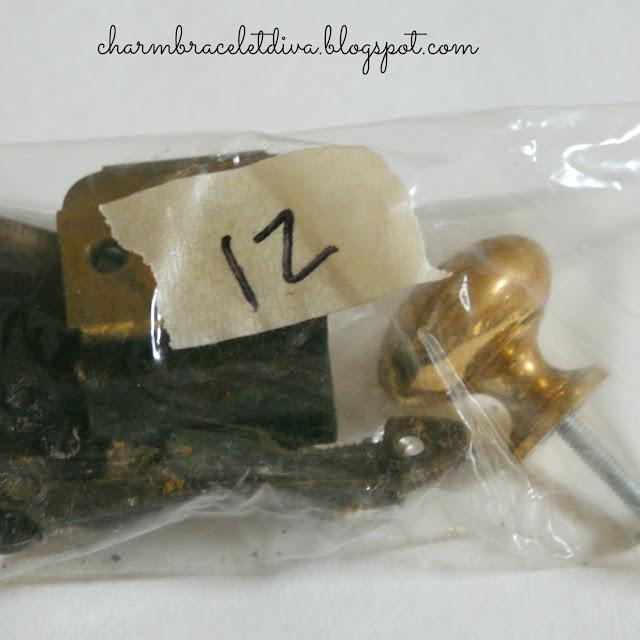 brass cabinet knob plastic bag tape