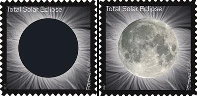 Solar eclipse U.S. Postage stamp issued Jun. 20, 2017